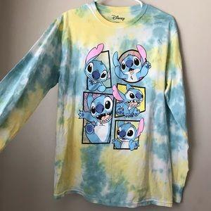 Disney lilo stitch tie dye long sleeve shirt NEW L